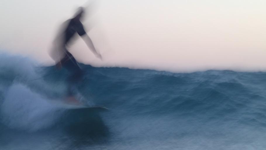 libres en el mar. surf